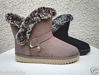 Femme Fille Bottine Botte boots Chaussure fourrées fur Plat hiver Talon 32305
