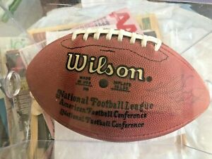 Vintage original NFL Football ~autographed by Chicago Bears - Butkus - Hampton+