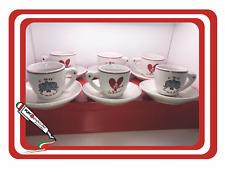 SET 6 TAZZINE CAFFE'  BARI CALCIO IDEA REGALO