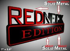 SOLID METAL Redneck Edition BEAUTIFUL EMBLEM Dodge Fender Trunk Lid Door Logo