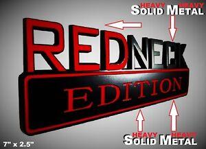 SOLID METAL Redneck Edition BEAUTIFUL EMBLEM Dodge Fender Trunk Lid Door Logo