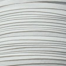 QUALITY FLAT ELASTIC- WHITE OR BLACK ELASTIC CHOOSE FROM 4,6,8,10 12 OR 16 CORD