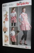 Simplicity 8533 Pattern  3 Aprons 1950's Vintage  Sizes 10-20