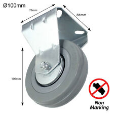 More details for caster wheel fixed plate 100mm castor 80kg for fruit snack vending machine