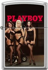 Zippo Playboy March 2002 Cover Satin Chrome Windproof Lighter NEW RARE