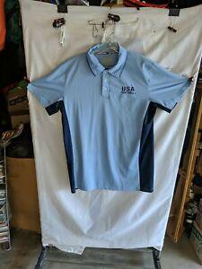 USA Softball Umpire Shirt sz L - POWDER