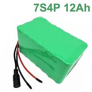 24V 12Ah 25.2V  Li-ion Battery Pack E-Bike electric bicycle 7S4P
