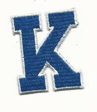 "New University of Kentucky Embroidered ""K"" Iron On Patch 2 1/4"" x 2"""