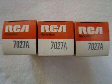 NOS NIB RCA 7027A Vacuum Tubes Matched Trio (3)