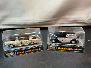 Racing Champions Indiana Chevy & Washington Ford State Police Car Diecast Lot