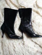 Ladies  black mid calf  Boots 8