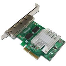 4 Port Gigabit Ethernet PCIe Server Adapter Network Card 10/100/1000M