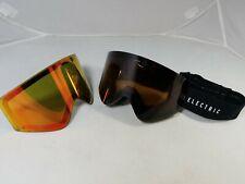 Electric EGX Goggles Gloss Black, Brose/Red Chrome Lenses Ski Snowboard Goggles