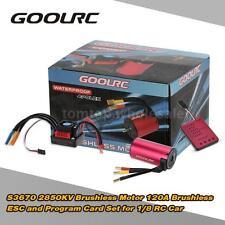 Original GoolRC S3670 2850KV Motor +120A ESC +Program Card Combo RC 3 in 1 W6P0