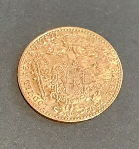 AUSTRIA 1915 ONE DUCAT GOLD COIN