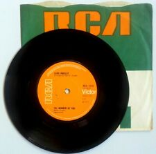 """Near Mint! Elvis Presley The Wonder of You 1970 RCA 7"""" Vinyl 45 Solid Centre"""