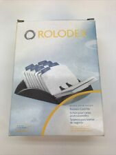 Rolodex Black Business Card File With 250 Ruled Cards Amp A Z Indexed Tabs