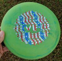 Rare Swirly Green Paul McBeth McPro Aviar Disc Golf Innova Flag Stamp
