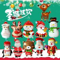 Christmas Series Foil Balloons Santa Claus Snowman Balloons Xmas Party Decor ni