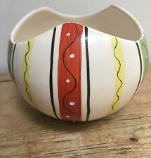 RARE ROYAL NORFOLK STAFFORDSHIRE MODERNIST HAND PAINTED ROUND SMALL BOWL