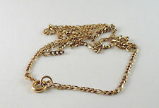 100% Genuine Vintage 9K Yellow Gold Figaro1:3 Link Necklace Chain 48cm