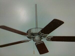 """Emerson 52""""Northwind Ceiling Fan brushed steel 5 reversible maple/natural CHERRY"""