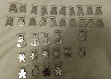 "35 piece Suspender Paci Pacifier Holder Mitten Clips - 1"" Rect Inserts"