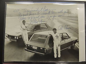 BOBBY AND AL UNSER RACE CAR DRIVERS SIGNED BLACK & WHITE 8 X 10 !