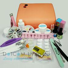 36w Lamp Light Cure UV GEL Polish Nail Art Tip Dust File Buffer Kits Set