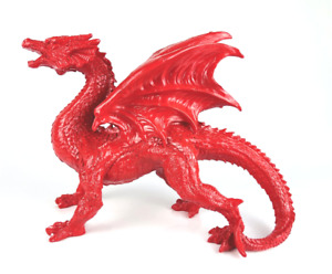 Gloss Fire Red Welsh Wales Dragon Ornament Figurine Game of Thrones Mythic Gift