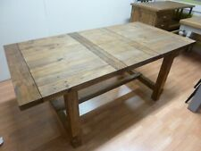New Chunky Reclaimed Wood Extending Trestle Dining Table *Furniture Store*