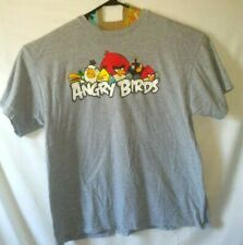 Angry Birds 2XL Mens Graphic T Shirt Grey Short Sleeve