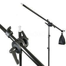 Photography Studio Light Stand Telescopic Boom Arm w/ Sandbag Grip For