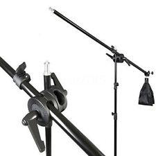 Photography Studio Light Stand Telescopic Boom Arm w/ Sandbag Grip For
