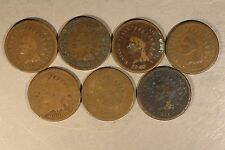 1865 - 1876 Indian Head Cent Date Run of 12 Coins   ** FREE U.S SHIPPING **