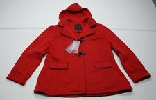 YOKI New York Womens 1XL Red Polyester Fleece Hooded Peacoat NWTs