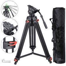 "71"" Pro Camera Tripod Portable DV Video Steady Stand Fluid Damping Head Kit 22LB"