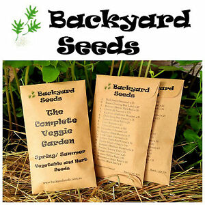 The Complete Veggie Garden, Vegetable and Herb Seeds for Spring/Summer: 20 Packs