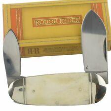 Rough Rider White Smooth Bone Handle Baby Sunfish Pocket Knife RR139
