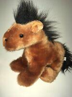 "Steven Smith Brown And Black  Horse  9"" Plush Stuffed Animal"