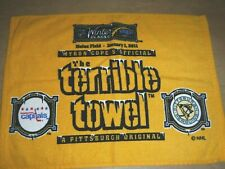 RARE PITTSBURGH TERRIBLE TOWEL 2011 WINTER CLASSIC PENGUINS AND CAPITALS HEINZ