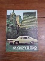 PROSPEKT BROCHURE AUTO CATALOG SALES CATALOGUE : CHEVROLET CHEVY II NOVA 1968