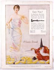 SPUNELLA DE CHINE Silk crepe fabric ~ Vogue magazine advert 1917 1919 Wizard VTG