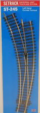 Peco HO Scale Code 100 Setrack LH Curved Turnout NEW ST-245