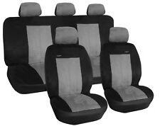 Autositzbezüge Autoschonbezüge SET passend für Nissan Almera Micra Schwarz-Grau