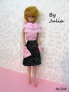 REPRODUCTION Vintage 60's Barbie Doll Outfit - ATELIER FEST PINK PARFAIT #1680