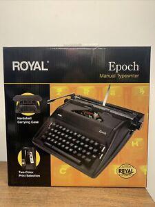 ROYAL Epoch 79100G Manual Typewriter Black
