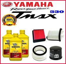 TAGLIANDO T-MAX 530 4 FILTRI + 3 LT OLIO BARDHAL XTC C60 10W40 2013 2014 TMAX