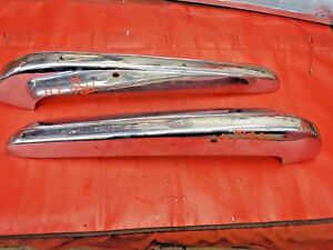 Triumph TR6 Right & Left Rear Bumper Ends, Original, !!
