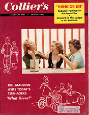 1955 Colliers January 21-Gina Lollobrigida; Iran Oil Crisis; Tom Gola of LaSalle